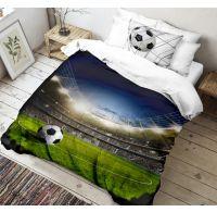 3D obliečky 140x200, 70x90cm Futbal
