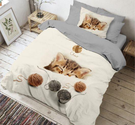 3D obliečky 140x200, 70x90cm Kitten