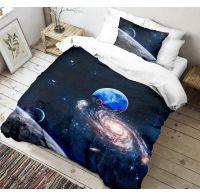 3D obliečky 140x200, 70x90cm Vesmír