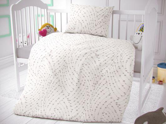 Bavlnené obliečky do detskej postieľky Astra biela