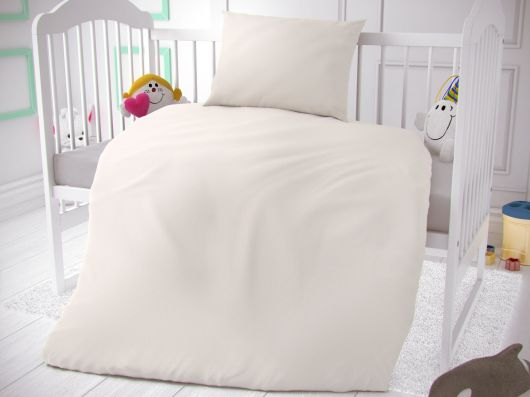 Bavlnené obliečky do detskej postieľky biele