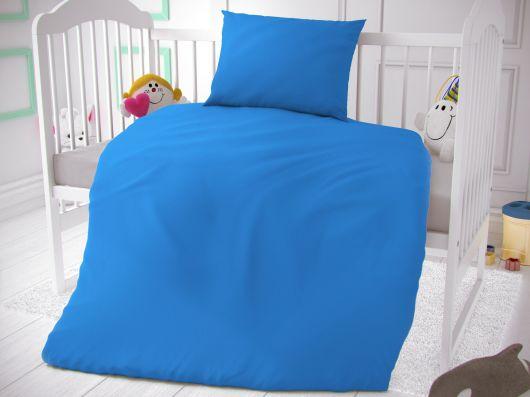 Bavlnené obliečky do detskej postieľky modré