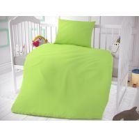 Bavlnené obliečky do detskej postieľky svetlo zelené