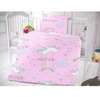 Bavlnené obliečky do detskej postieľky Unicorn