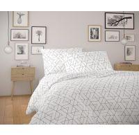 Bavlnené obliečky NORDIC COLLECTION 140x200, 70x90cm FRIDA biela