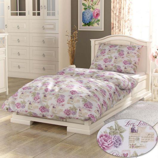 Klasické posteľné obliečky PROVENCE COLLECTION 140X200, 70x90cm Leontýna růžová