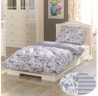 Bavlnené posteľné obliečky PROVENCE COLLECTION 140x200, 70x90cm MONTERA sivá