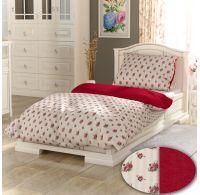 Klasické posteľné obliečky PROVENCE COLLECTION Rosette bordó