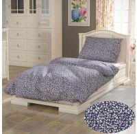 Bavlnené posteľné obliečky PROVENCE COLLECTION 140x200, 70x90cm SEDMOKRÁSKA modrá