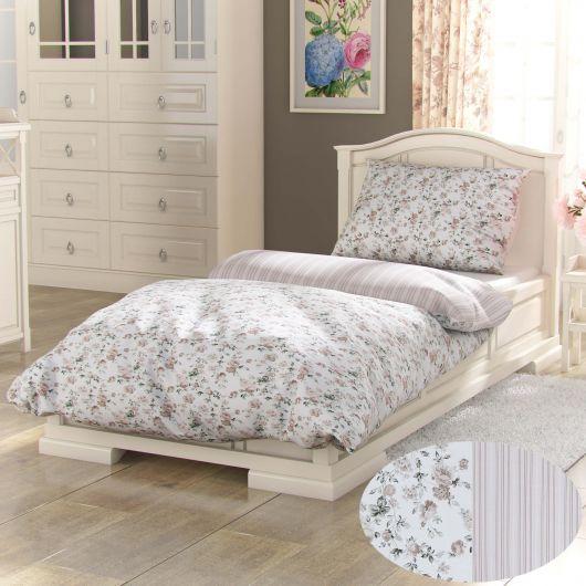 Bavlnené posteľné obliečky PROVENCE COLLECTION 140x200, 70x90cm VIENTO béžové