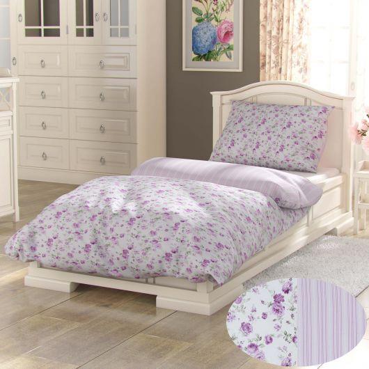 Bavlnené posteľné obliečky PROVENCE COLLECTION 140x200, 70x90cm VIENTO ružové