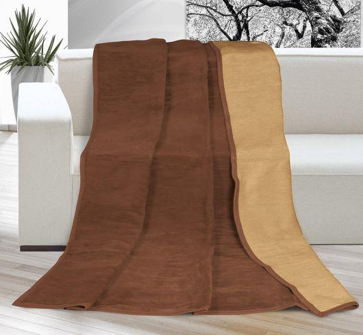 Deka jednofarebná 150x200cm čokoládová / oriešková
