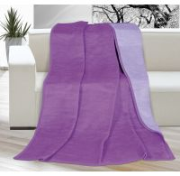 Deka jednofarebná 150x200cm fialová / svetlo fialová