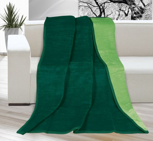 Deka jednofarebná 150x200cm tmavo zelená / zelená
