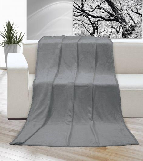 Deka micro jednofarebná 150x200cm sivá