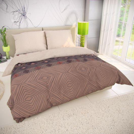 Francúzske bavlnené obliečky 200x200, 70x90cm COFFEE béžové