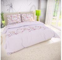 Francúzske bavlnené obliečky 200x200, 70x90cm MARY ružová