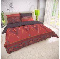 Francúzske bavlnené obliečky 200x200, 70x90cm ZAHIRA červená