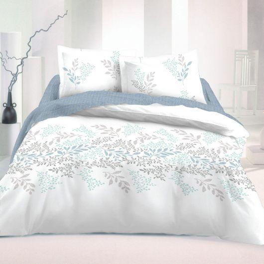 Francúzske bavlnené obliečky 220x200, 70x90cm VICTORIA biela
