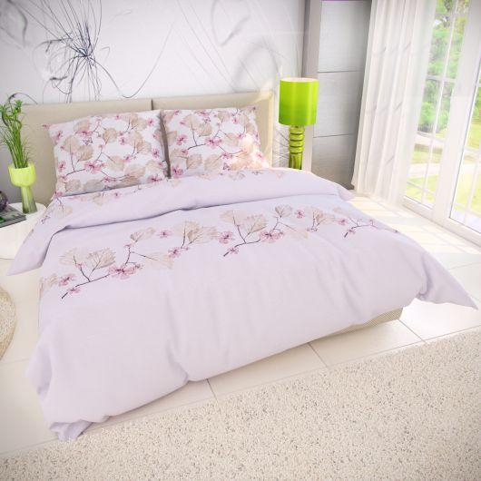 Francúzske bavlnené obliečky 240x200, 70x90cm MARY ružová