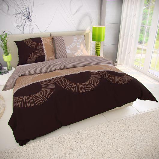 Francúzske bavlnené obliečky 240x200, 70x90cm MOCHACCINO hnedé