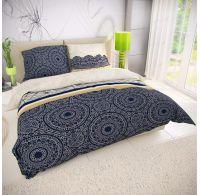 Francúzske bavlnené obliečky AMIRA modrá 240x200, 70x90cm