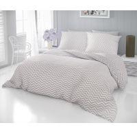 Francúzske bavlnené obliečky DELUX CROSS béžové 240x200, 70x90cm