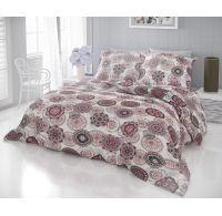 Francúzske bavlnené obliečky DELUX ZATARA červená 200x200, 70x90cm