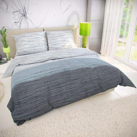 Francúzske bavlnené obliečky 200x200, 70x90cm MIST sivé