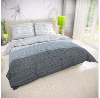 Francúzske bavlnené obliečky MIST sivé 220x200, 70x90cm