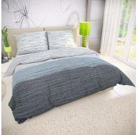 Francúzske bavlnené obliečky MIST sivé 240x200, 70x90cm