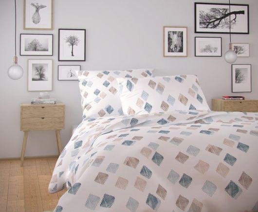 Francúzske bavlnené obliečky NORDIC COLLECTION 220x200, 70x90cm AGNES