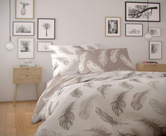 Francúzske bavlnené obliečky NORDIC COLLECTION 200x200, 70x90cm SHELBY