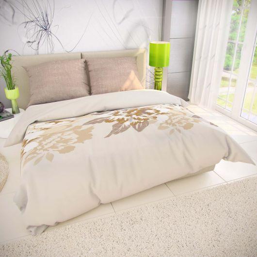 Francúzske bavlnené obliečky PALOMA smotanová 200x200, 70x90cm