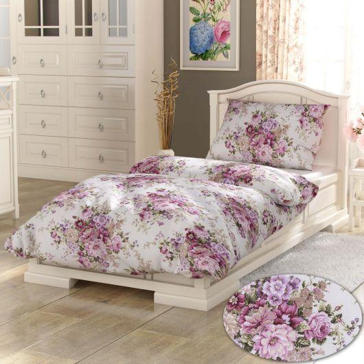 Francúzske bavlnené obliečky PROVENCE COLLECTION 220x200, 70x90cm Ester ružová