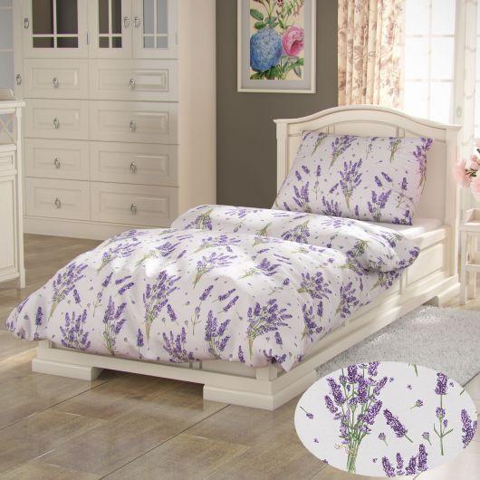 Francúzske bavlnené obliečky PROVENCE COLLECTION 220x200, 70x90cm Levanduľa fialová