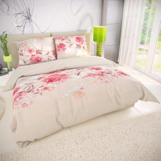 Francúzske bavlnené obliečky TANEA ružová 200x200, 70x90cm