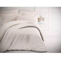 Francúzske jednofarebné bavlnené obliečky 200x200, 70x90cm biele