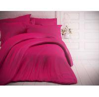 Francúzske jednofarebné bavlnené obliečky 200x200, 70x90cm purpurové