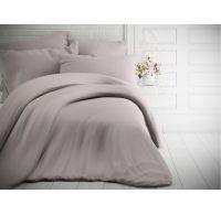 Francúzske jednofarebné bavlnené obliečky 200x200, 70x90cm svetlo sivé