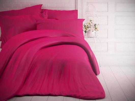 Francúzske jednofarebné bavlnené obliečky 220x200, 70x90cm purpurové