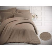 Francúzske jednofarebné bavlnené obliečky 240x200, 70x90cm melír béžový