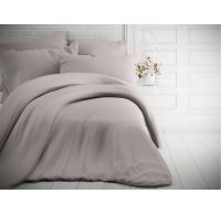 Francúzske jednofarebné bavlnené obliečky 240x200, 70x90cm svetlo sivé