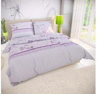 Francúzske predĺžené bavlnené obliečky 240x220, 70x90cm LAVENDA fialová