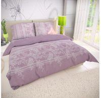 Francúzske predĺžené bavlnené obliečky BOVA fialová 240x220, 70x90cm