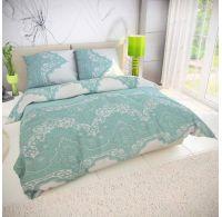 Francúzske predĺžené bavlnené obliečky MIKANOS zelené 240x220, 70x90cm