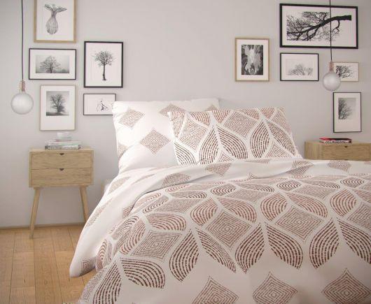 Francúzske predĺžené bavlnené obliečky NORDIC COLLECTION 240x220, 70x90cm ALVA