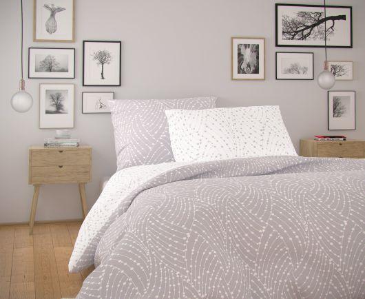 Francúzske predĺžené bavlnené obliečky NORDIC COLLECTION 240x220, 70x90cm ASTRA