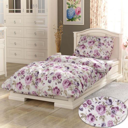 Francúzske predĺžené bavlnené obliečky PROVENCE COLLECTION 240x220, 70x90cm Daniela fialová