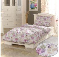 Francúzske predĺžené bavlnené obliečky PROVENCE COLLECTION 240x220, 70x90cm Leontýna ružová